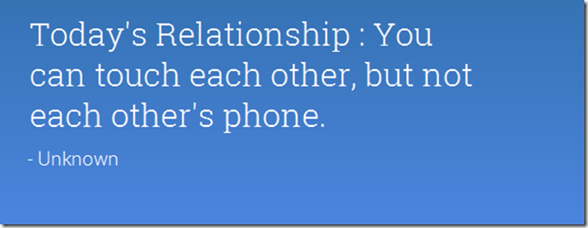 Today's relationship
