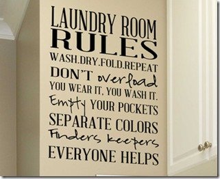 Laundry room rules