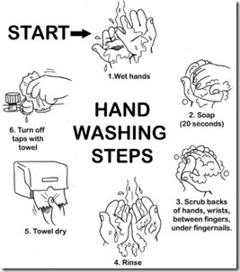 6 Steps of Washing Hands
