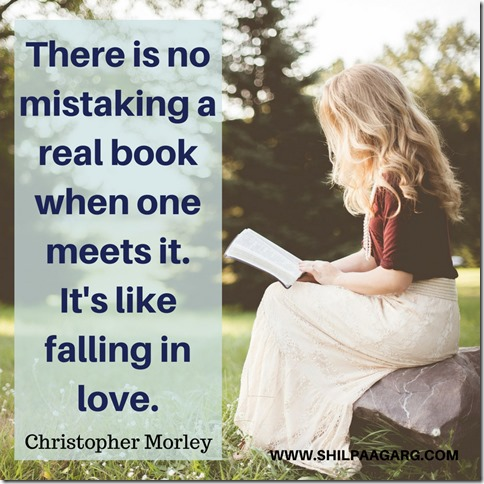 There is no mistaking a real book when one meets it. It's like falling in love.