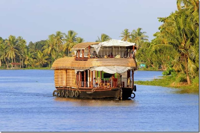 Ride a Houseboat in Kerala