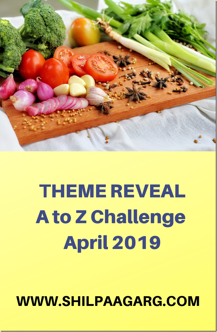 THEME REVEAL April Blogging from A to Z Challenge 2019
