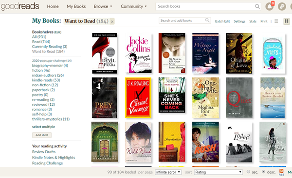 Want to Read Goodreads
